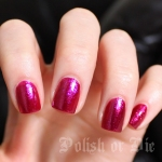 Zoya Alegra nail polish swatch - fuschia metallic pink